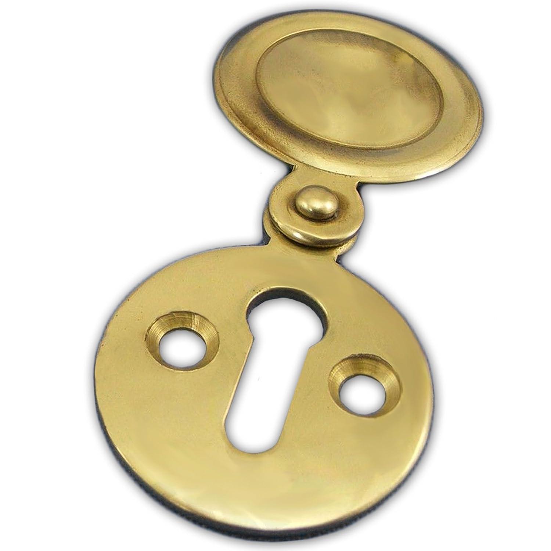 Brass Keyhole Swing Cover White Hinge