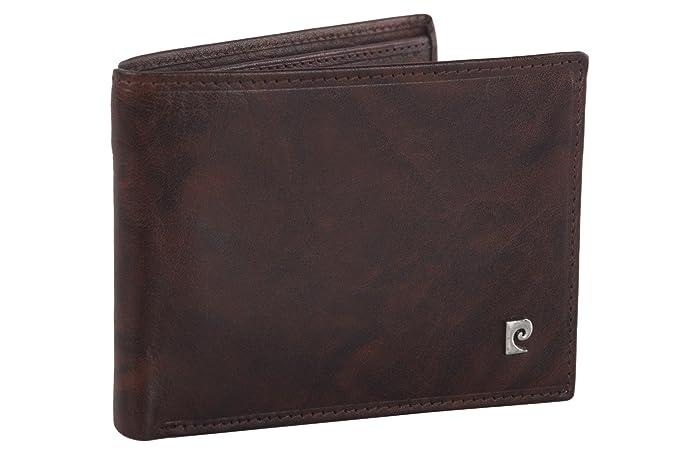 Cartera hombre PIERRE CARDIN marrón en cuero con monedero y solapa: Amazon.es: Ropa y accesorios
