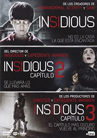PACK INSIDIOUS 1+2+3 Spain Import, see details for languages