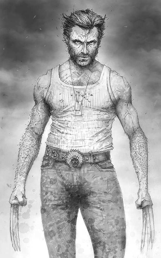 Amazon Com The Best At What He Does Giclee Print Of A Pencil Drawing Of Logan From The X Men Handmade