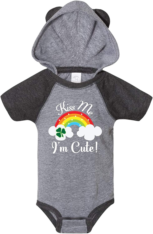 inktastic St Patricks Kiss Me Im Cute Infant Creeper