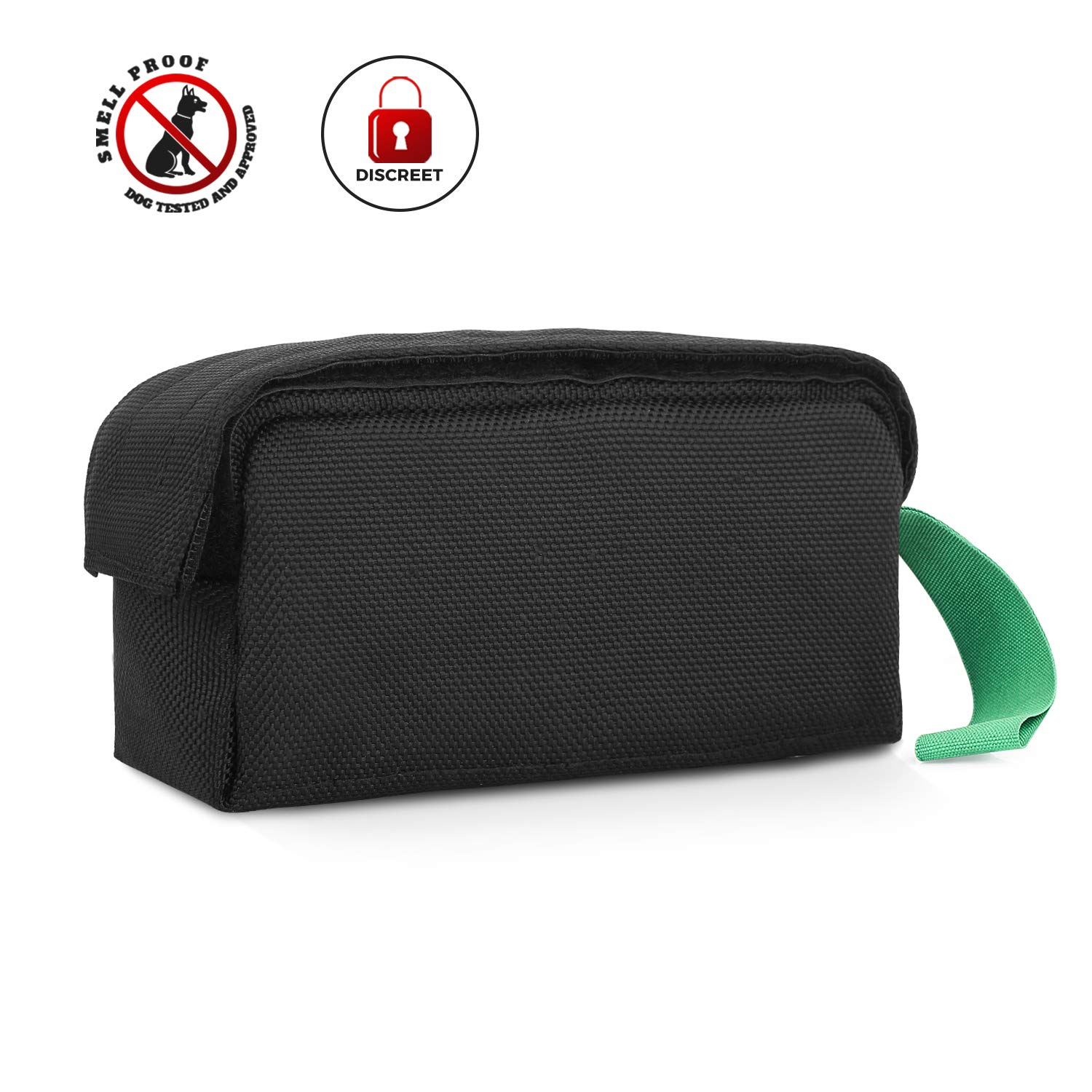MEIZHI Smell Proof Bag Pouch Black Plant Germination Bag 7X3.5X3 for Herbs Spices Tea Anything with Strong Odor Activated Carbon Lining Odor Absorbing Water Resistant Black by MEIZHI (Image #1)