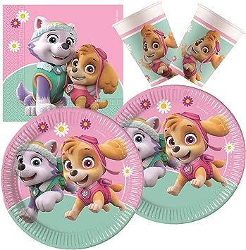 Procos 10133066 - Juego de Accesorios para Fiesta de cumpleaños Infantil, diseño de la Patrulla Canina: Amazon.es: Juguetes y juegos