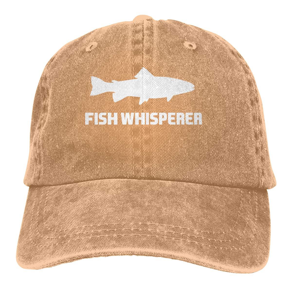 Fish Whisperer Salmon Unisex Trendy Denim Sun Hat Adjustable Baseball Cap