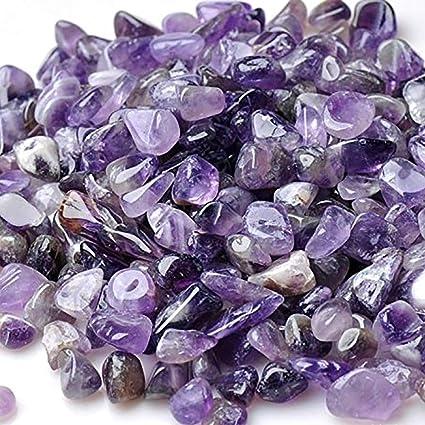 Amazon Com Wayber Decorative Rocks 0 9 Lb 410g Purple Pebble Rock