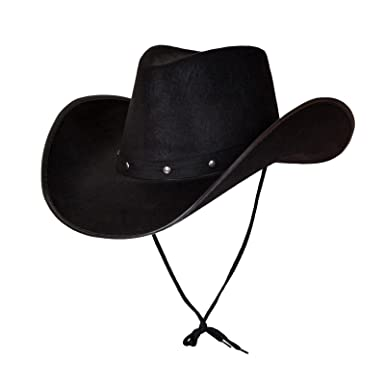 c5a5a38ee50 Image Unavailable. Image not available for. Colour  Adult Texan Cowboy Hat  Black Fancy Dress Party Accessory Country Western Rancher