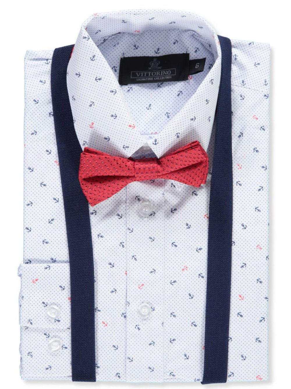 Vittorino Boys' Dress Shirt with Accessories
