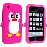 SKS Distribution® rose chaud Mignon Pingouin Manchot Etui Coque Housse Pour iPhone 3GS / 3G