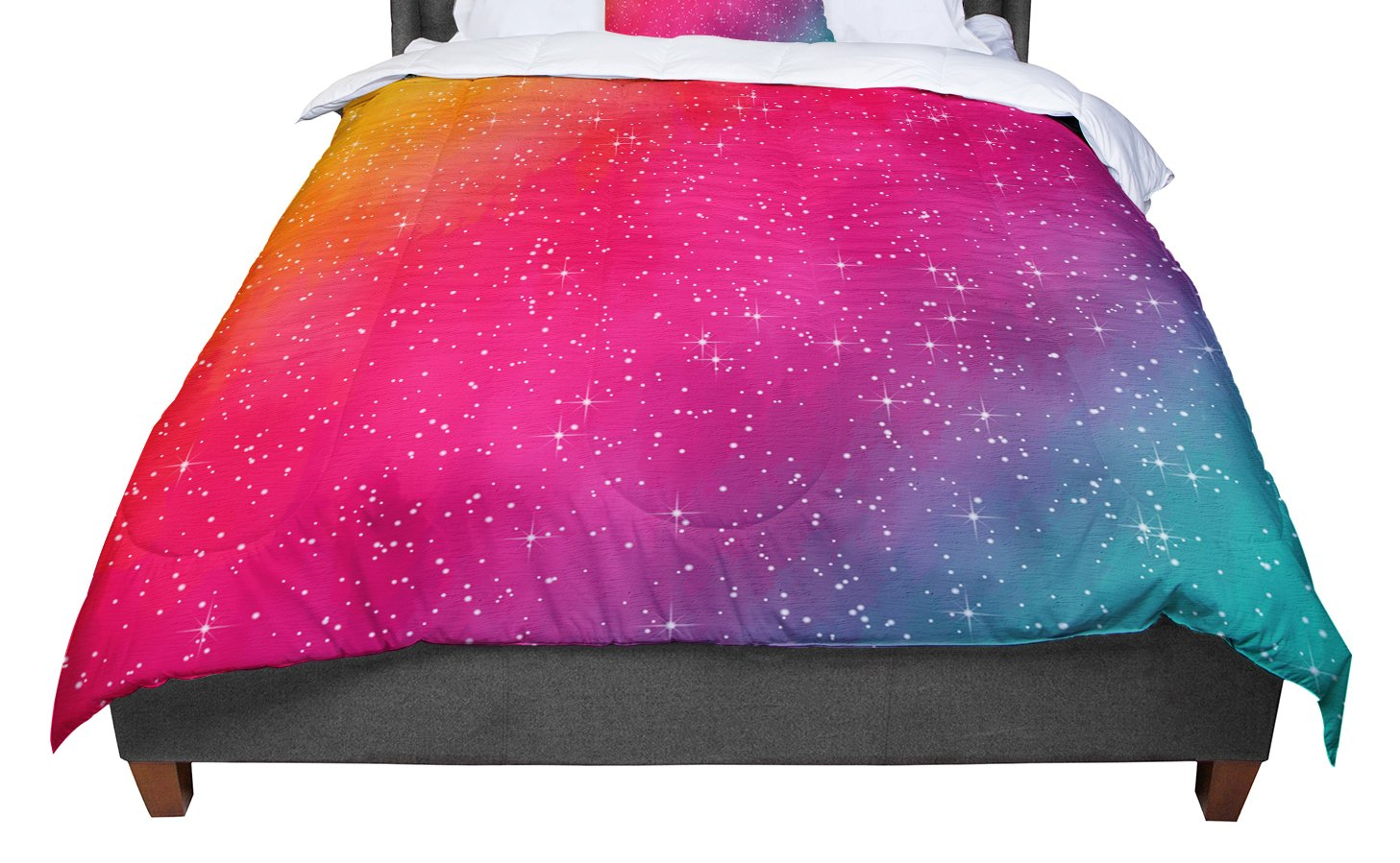 KESS InHouse Fotios Pavlopoulos 'Colorful Constellation' Pink Glam Twin Comforter, 68' X 88'