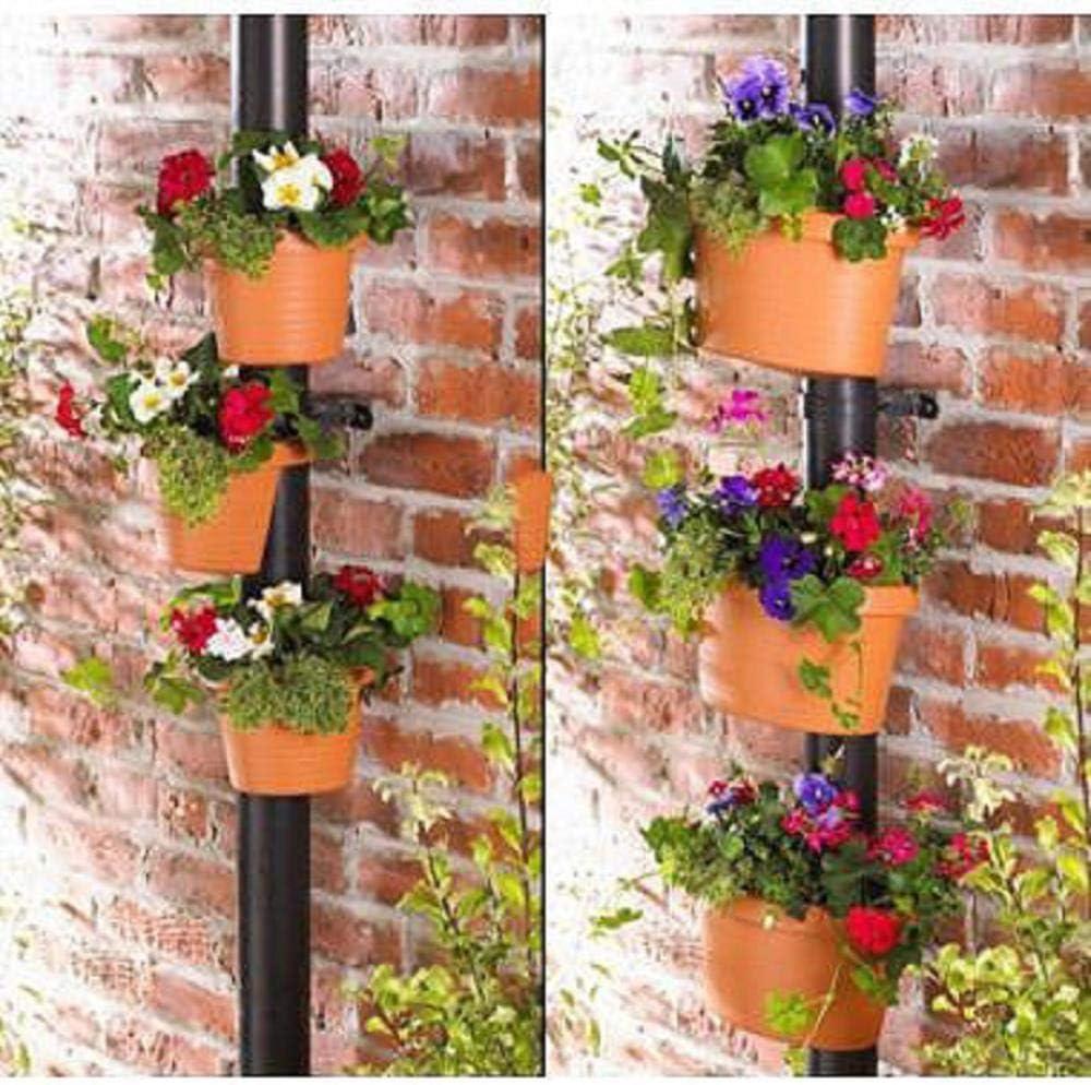 CTOBB 3 Unid/Lote Único Canalón Descenso de Flores Maceta de jardín Tubo DE Drenaje Tazas DE Plantas DE Flores Tinas Tubos de Drenaje Jardineras de jardín: Amazon.es: Jardín