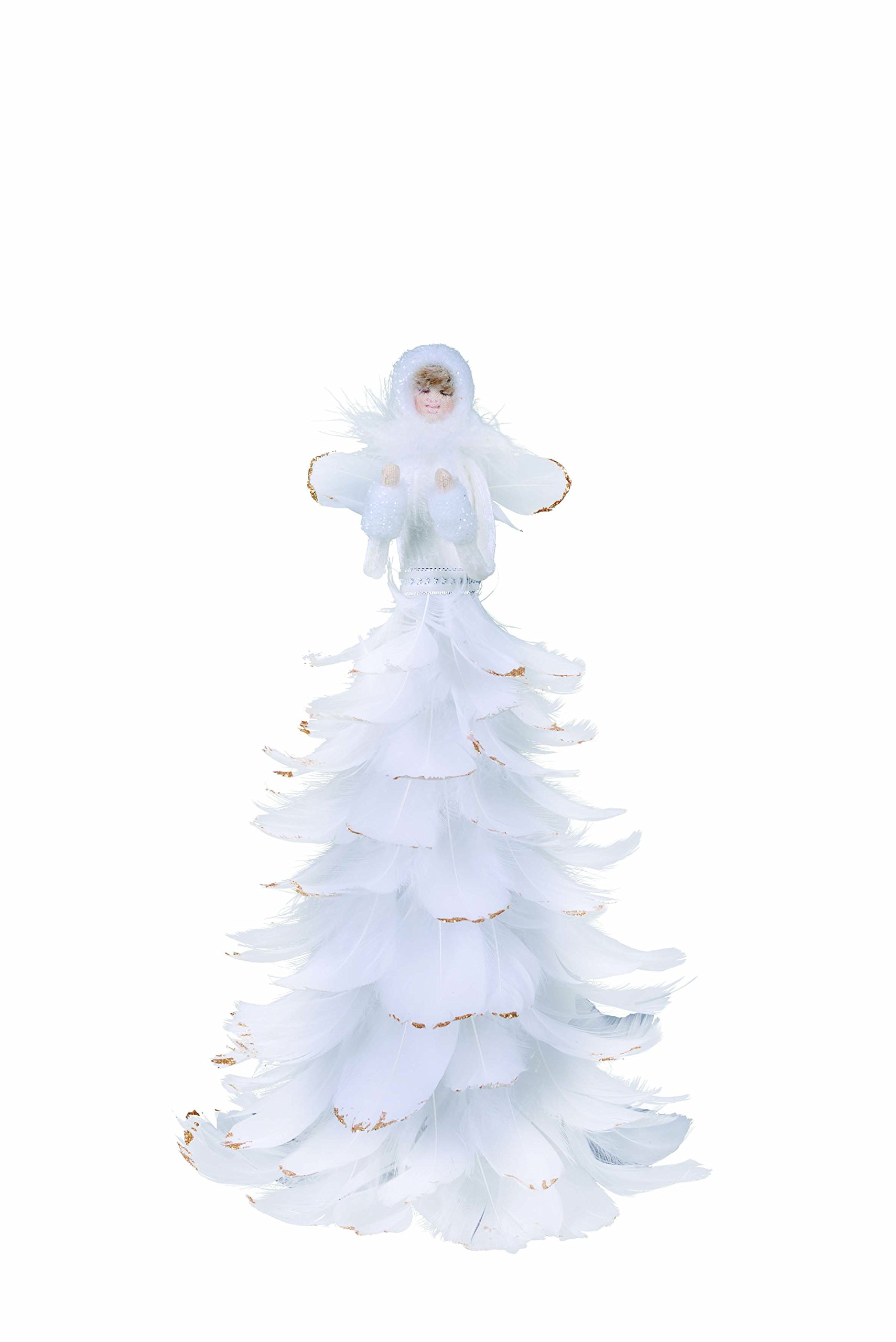 Transpac Feather White Angel Tree Topper by Transpac (Image #1)