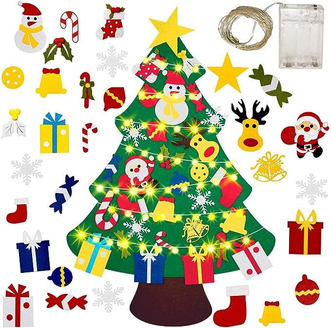 Gudotra Kit Fieltro Árbol de Navidad + 25 Adornos del Árbol de ...