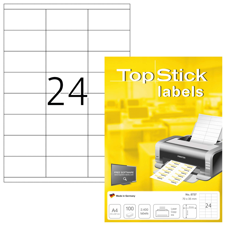 ETIKETTEN 200 x 297 mm weiß Laser Inkjet Kopierer 100 Stück permanent