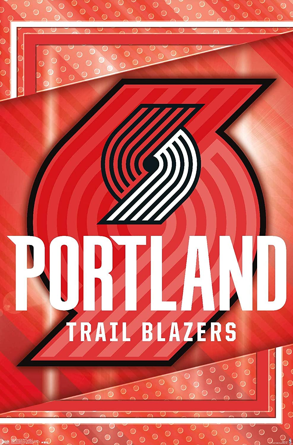 Amazon Com Trends International Nba Portland Trail Blazers Logo 17 Wall Poster 22 375 X 34 Unframed Version Posters Prints