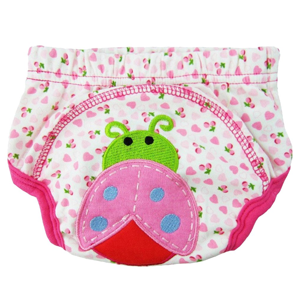 Ladybird 5-14 months Homyl Cotton Reusable Baby Training Pants Infant Shorts Underwear Cloth Diaper Nappies Waterproof