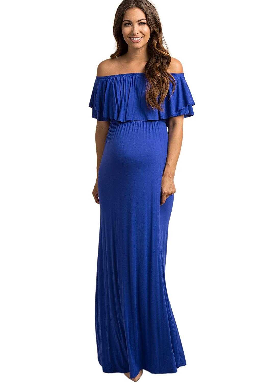 PinkBlush Maternity DRESS レディース B07DRD15DX X-Large|ロイヤルブルー ロイヤルブルー X-Large
