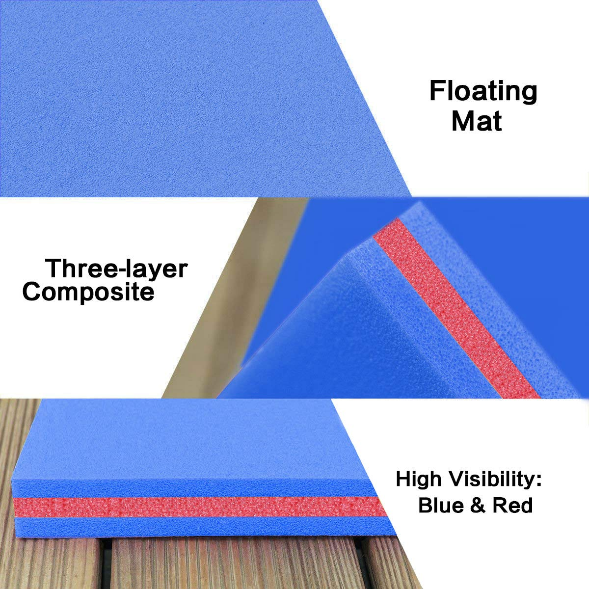 Outroad Floating Mat 12' X 6' - Recreational Floating Foam Pad Adults Kids (Blue)- Lily Pad Used in Ocean/Lake by OUTROAD OUTDOOR CAMPING GARDEN PATIO (Image #6)