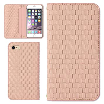 35b5ee8da9 AQUOS PHONE es WX04SH ケース スマホケース 手帳型 エンボスレザー調 メッシュ (カラー ピンク)