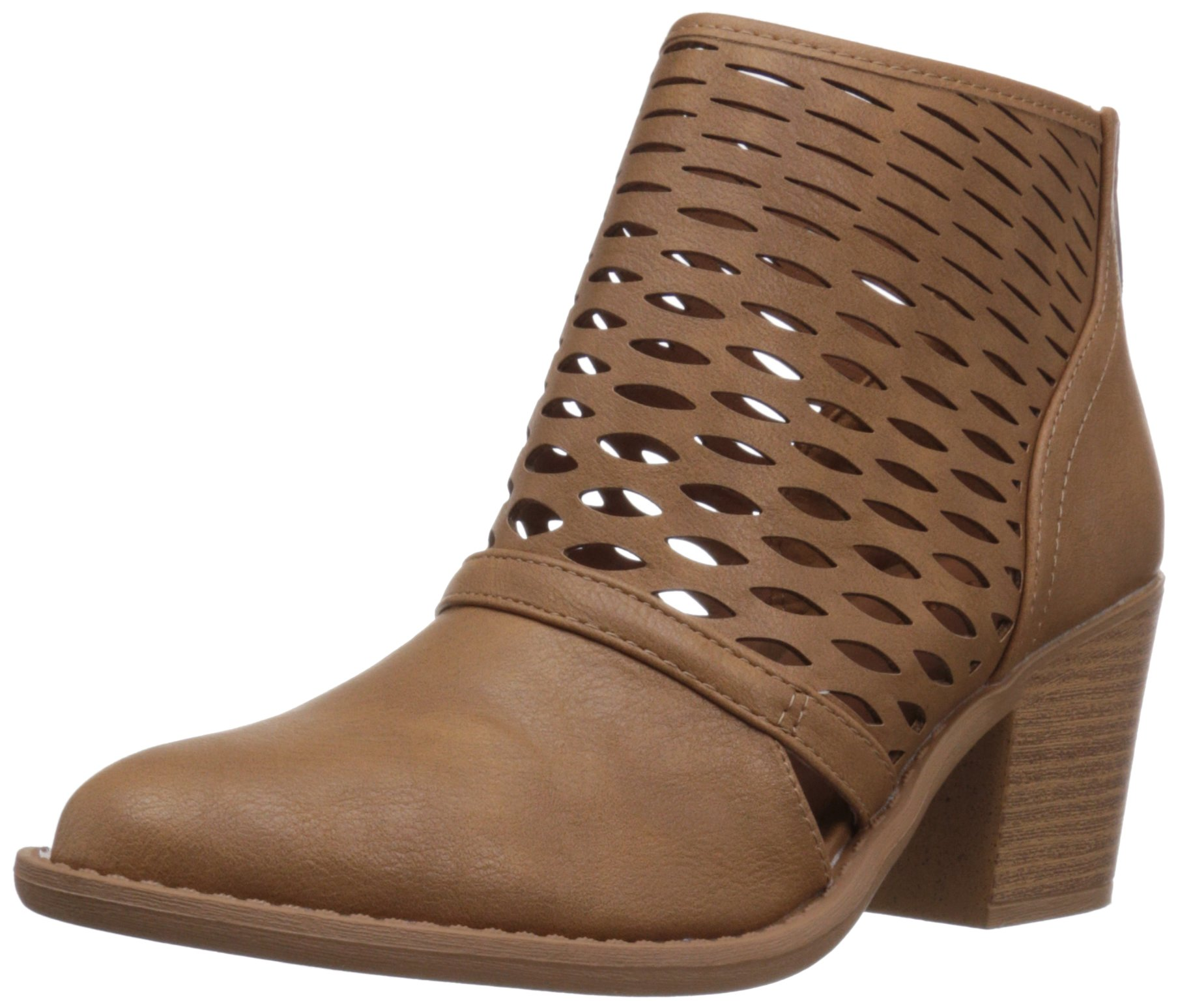Qupid Women's Tobin-53 Ankle Bootie, Tan, 8.5 M US by Qupid (Image #1)
