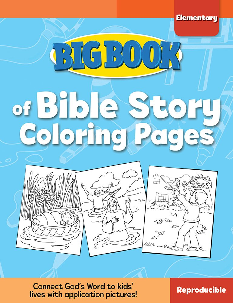 Big Book Of Bible Story Coloring Pages For Elementary Kids (Big Books):  Cook, David C: 9780830772339: Amazon.com: Books