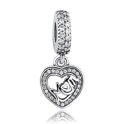 Motherly Love Pendant Charm Sister Mum Friend gift will fit Pandora and Biagi charm bracelets 017 Nm5PBO