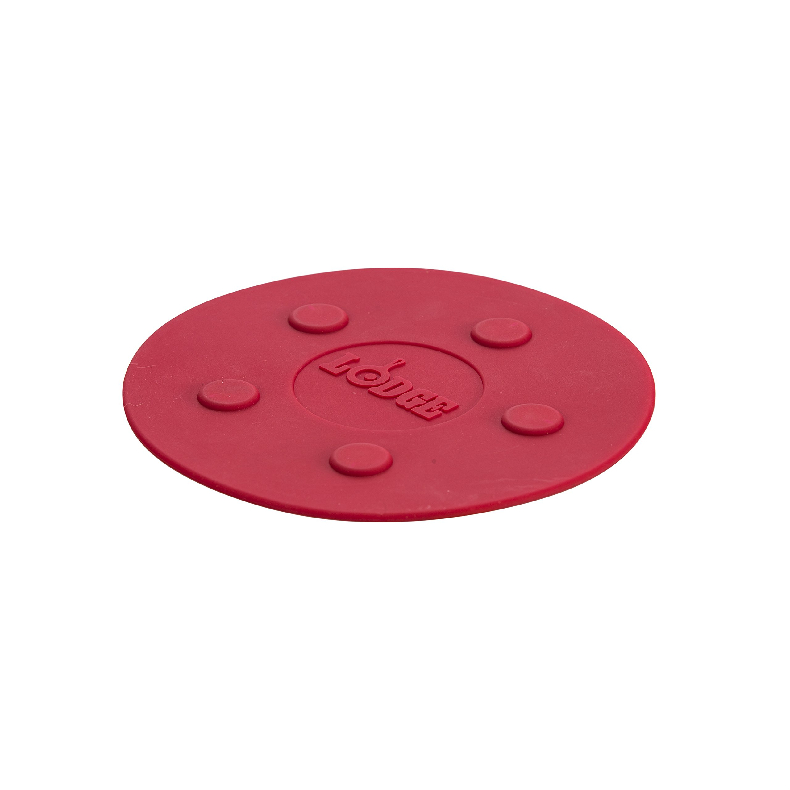 Lodge ASLMT41 Silicone Magnet Trivet, 8-inch, Red