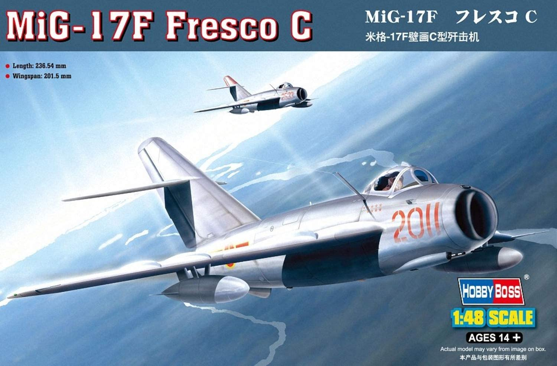 MiG-17PFU 17 PFU Fresco E Modell-Bausatz HobbyBoss 1:48 NEU OVP kit
