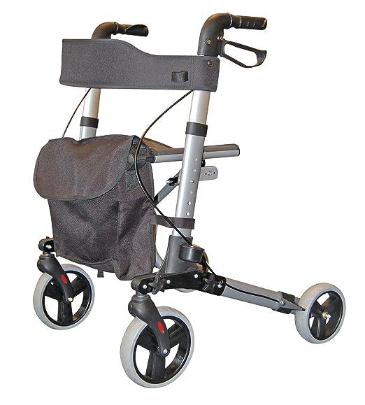 Roma City Walker - Andador plegable de 4 ruedas para caminar