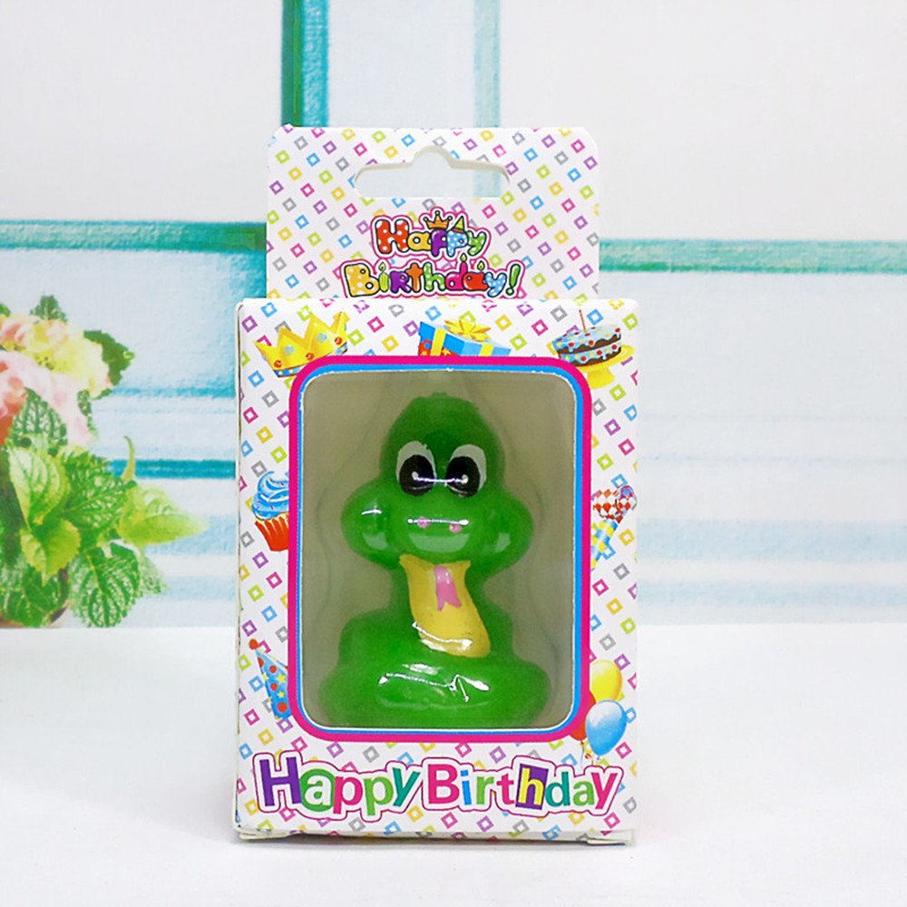 Birthday Gifts Cake Toppings Candles Cartoon Animal Party Decoration Candles for Kids' Birthday Parties (Little Snake) by none-branded (Image #4)
