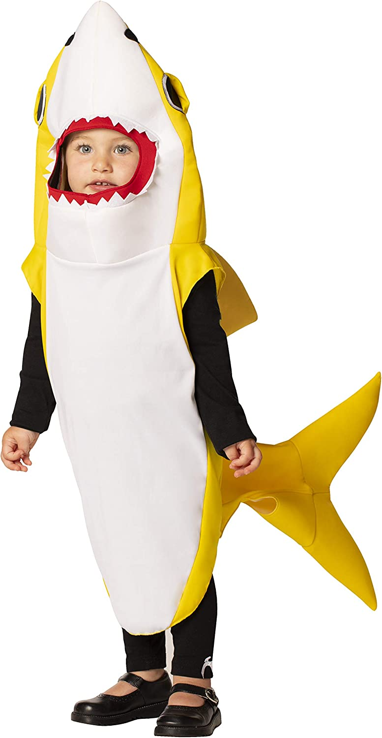 Rasta Imposta Yellow Shark Outfit Family Group Kids Costume Available in Baby 12-24 Months, Child Sizes 3-4, 4-6, 7-10