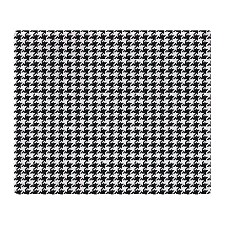 CafePress Black And White Houndstooth Soft Fleece Throw Blanket Delectable Black And White Houndstooth Throw Blanket