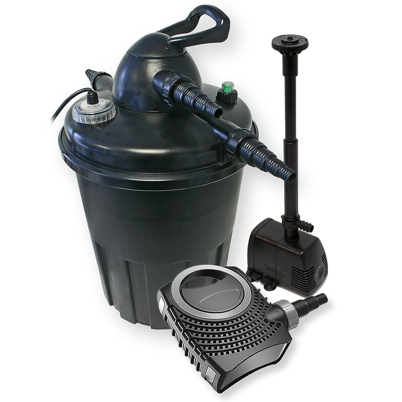 Kit de filtration à pression bio 15000l Stérilisateur UVC 24W Pompe de bassin Pompe de fontaine 54484