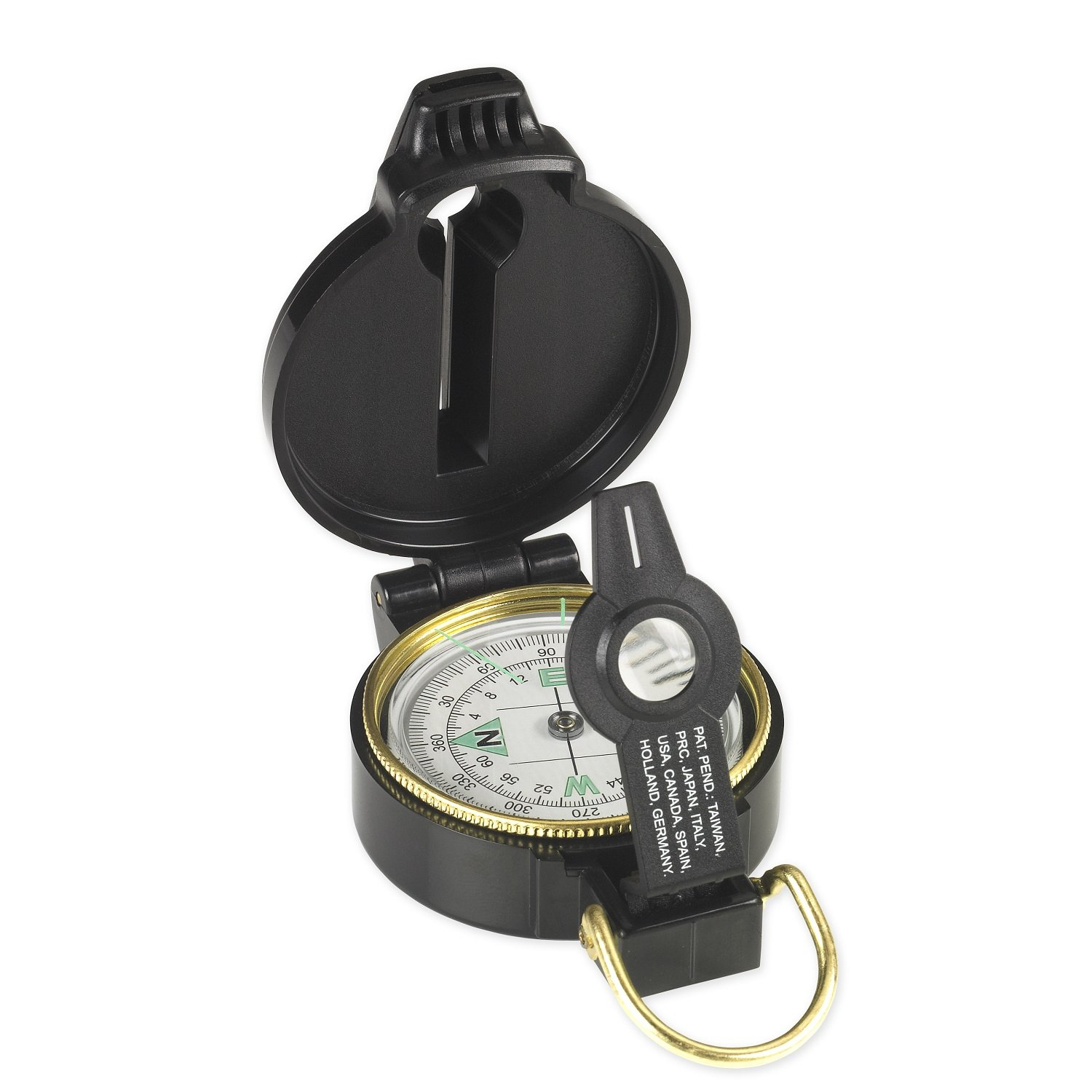 Black Sportsman Supply Inc NduR Lensatic Compass with Whistle 51540