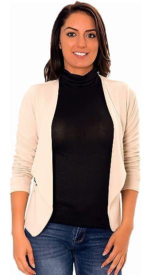 Veste Douce Femme Legere Cintree Chic, Vestes Blazers Femmes De Mi Saison Printemps Automne, Gilet Blazer Courte Cintrée, Gilets Tailleur, Vetement