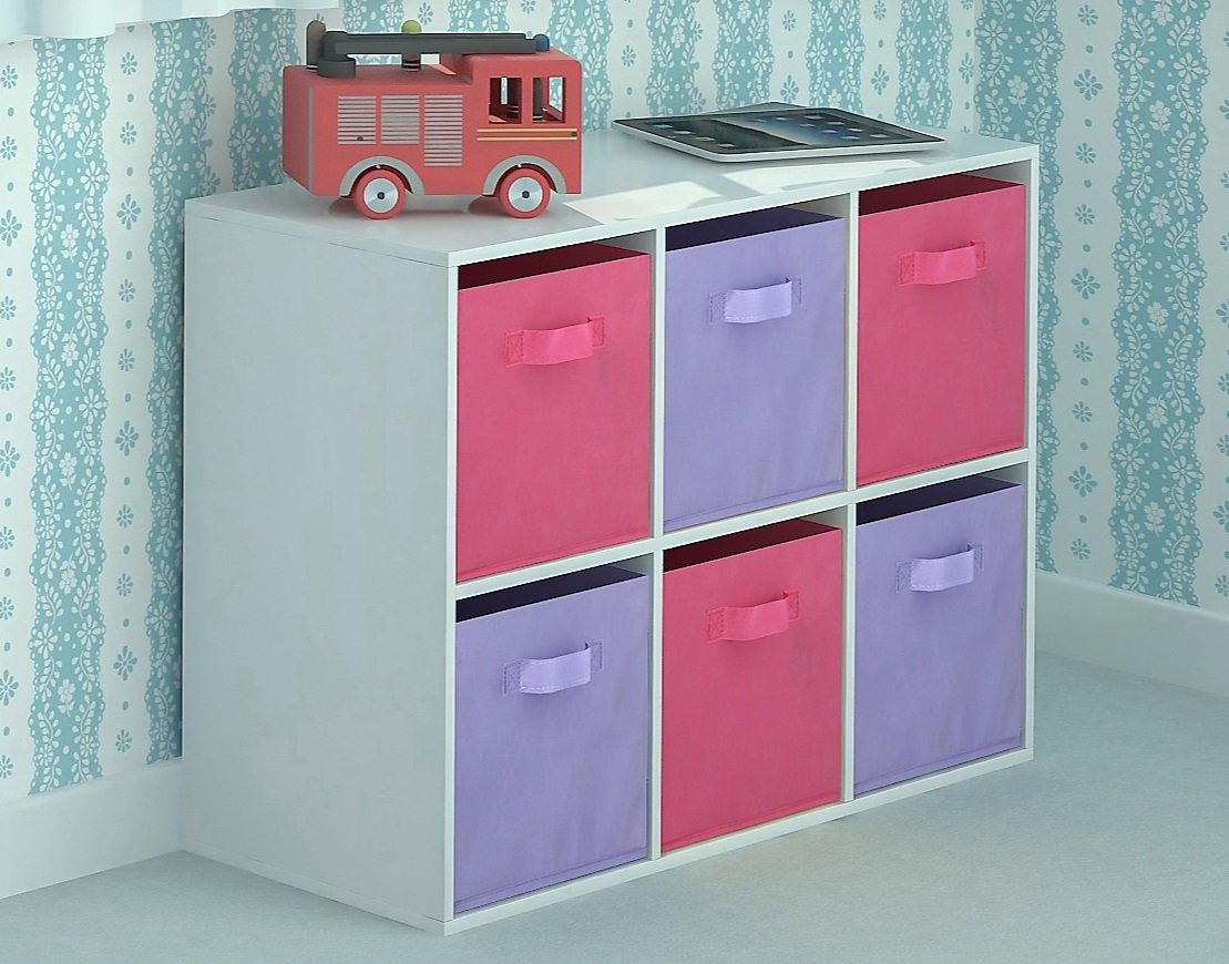 kids toy storage furniture. Home Source Toy Storage Unit Kids Chest Of 6 Canvas Drawers For Children\u0027s Bedroom Playroom: Amazon.co.uk: Kitchen \u0026 Furniture A