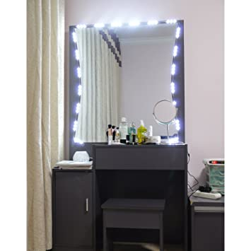 Amazon.com: PENSON Lighted Mirror LED Light for Cosmetic Makeup ...