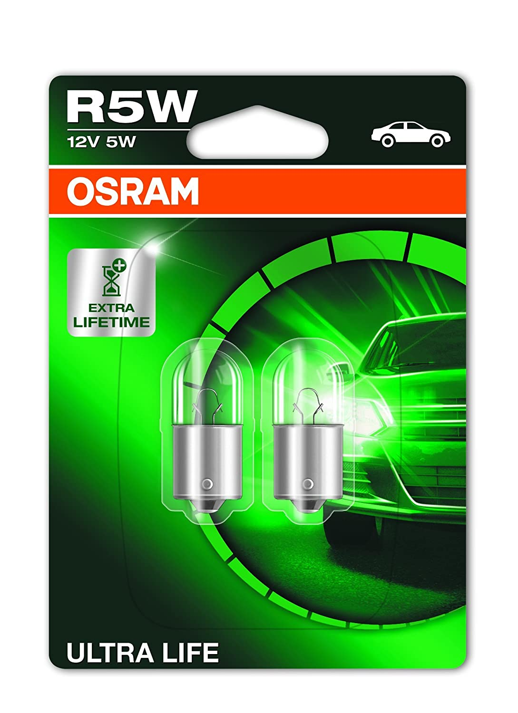 10x Caja de luces incandescente para Coche 2825, 12V, 5W, W5W, W2.1x9.5d OSRAM 2825.TP