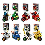 Opino Child Toy, 1pc Cartoon Motorcycle Blocks Kids Educational Brick Building Sets Toy for Kids More Than 6 Years