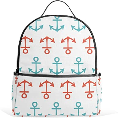 Mr.Weng Blue Start Printed Canvas Backpack For Girl and Children