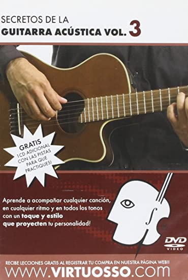 Amazon.com: Virtuosso Acoustic Guitar Full Method in 3 DVD (Curso Completo De Guitarra Acustica En 3 DVD) SPANISH ONLY: Musical Instruments