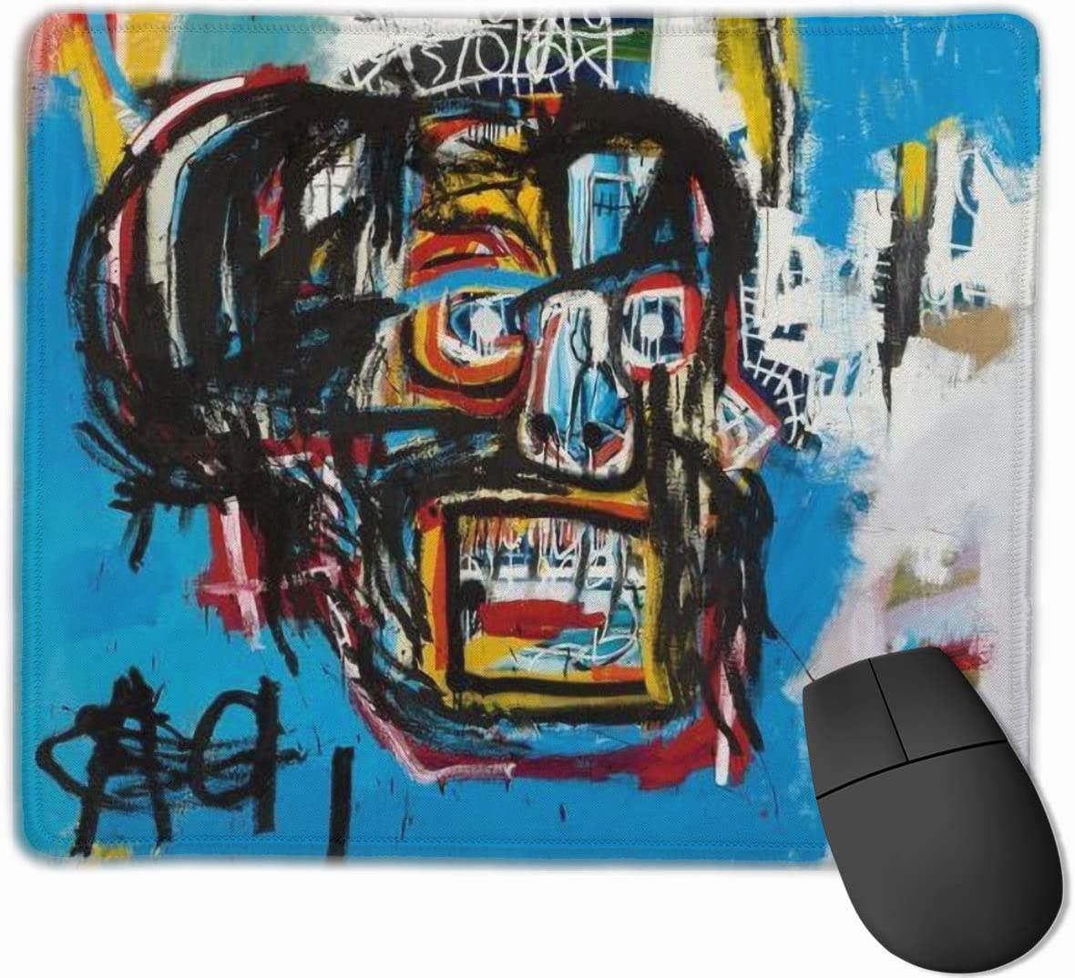 Qiumzzwee Jean Michel Basquiat Rectangle Non-Slip Rubber Mousepad Gaming Mouse Pad 25x30 cm