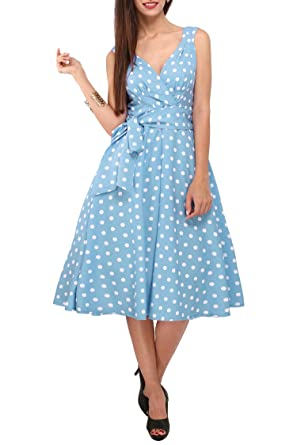 New Dress 40s 50s Style Swing Vintage Rockabilly Ladies Floral Bird Womens Party Dresses Plus Size