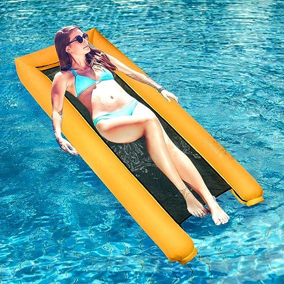 Amazon.com: Dreampark - Hamaca inflable para piscina ...