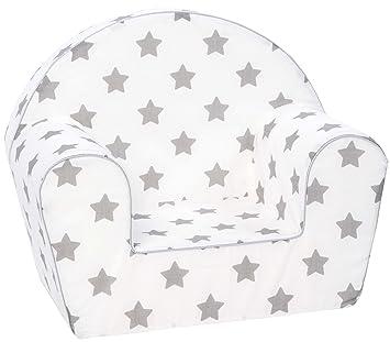 Knorrtoys 68344 sofá para niños - Sofás para niños (Algodón, Espuma, Multicolor, Stars Grey, Niño/niña, 30 kg, Lavado de Manos)