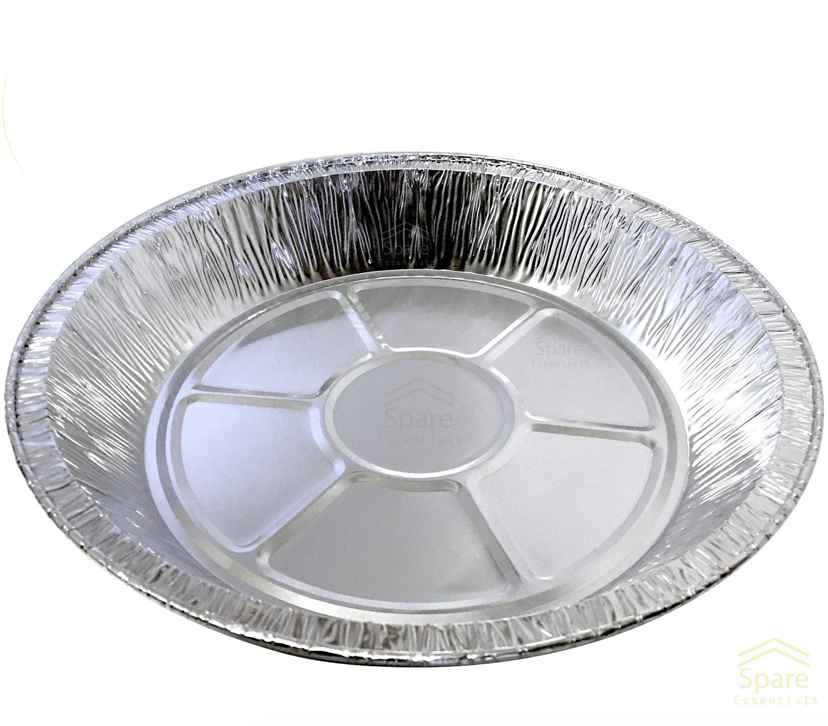 25 PACK - Prime Pie Pans. Ideal for Tasteful Cakes and Pies. Sturdy Aluminum Foil Pans. Disposable Tin Plates for Tart/Pie – SIZE 9''