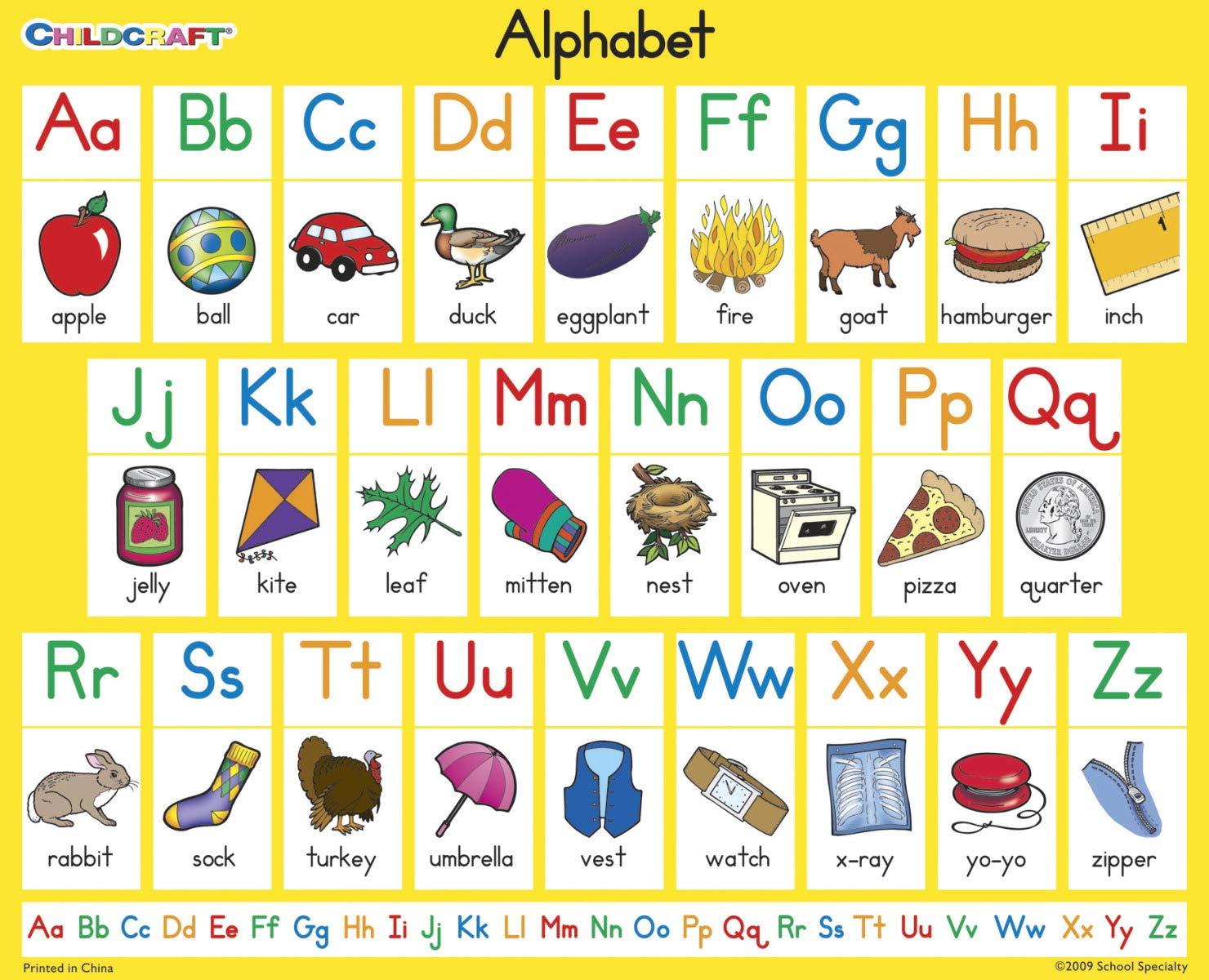 Amazon.com: Childcraft Alfabetización Cartas Inglés alfabeto ...
