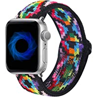 Dsytom Adjustable Elastic Band Compatible with Apple Watch Bands 38mm 40mm 42mm 44mm Scrunchies Stretchy Leopard Pattern…