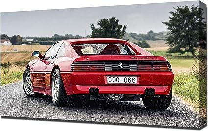 Amazon De Lilarama 1994 Ferrari 348 Gt Competizione V4 1080 Art Leinwandbild Kunstdrucke