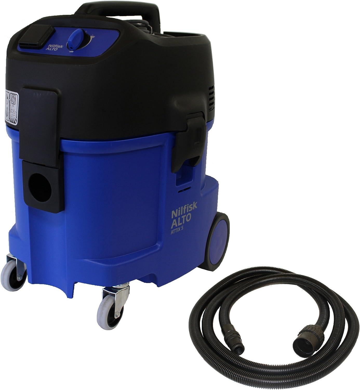 Nilfisk Attix 560-21 XC 1500 W - Aspiradora (1500 W, Aspiradora de tambor, Seca y húmeda, 45 L, 57 dB, Negro, Azul): Amazon.es: Hogar