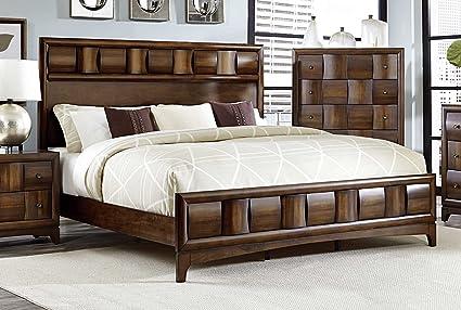 Amazon.com: HEFX Furniture Preston California King Low ...